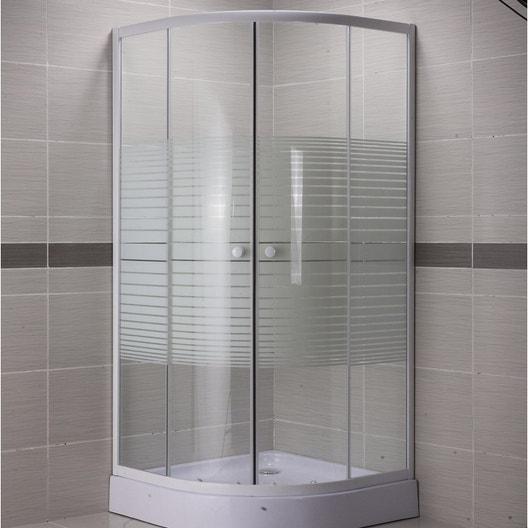 paroi de douche 1/4 de rond 90×90 leroy merlin