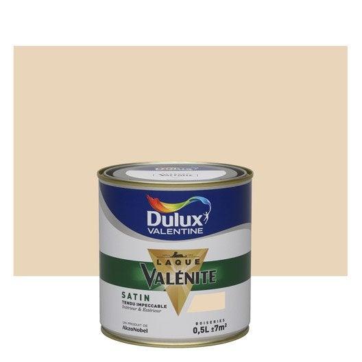 Peinture coquille d 39 uf satin dulux valentine val nite 0 5 l leroy merlin - Peinture coquille d oeuf ...