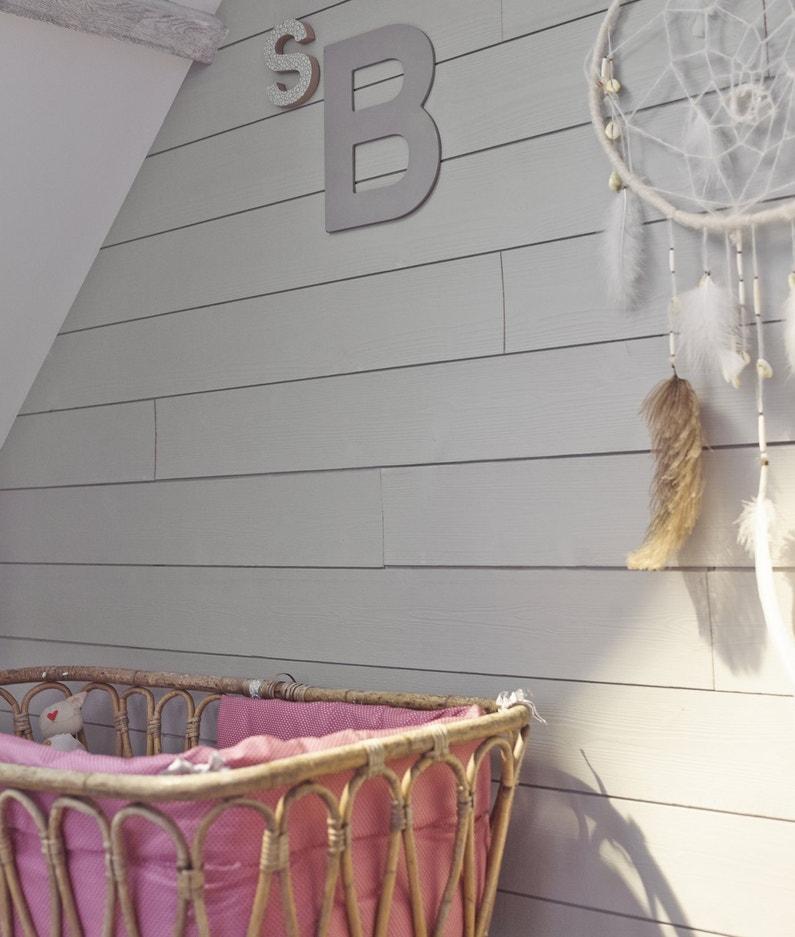 Du lambris dans la chambre de b b leroy merlin - Humidite mur interieur chambre ...