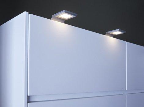 Spot led sous meuble cuisine meubles cuisine design img10 Applique eclairage meuble cuisine ikea