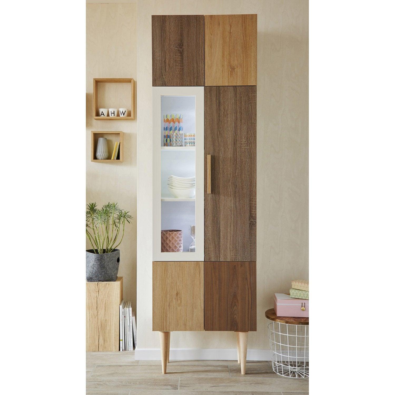 porte battante spaceo home 100 x 40 x 1 6 cm transparent leroy merlin. Black Bedroom Furniture Sets. Home Design Ideas