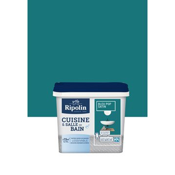 Peinture murale cuisine et bain peinture cuisine et bain for Peinture cuisine bleu