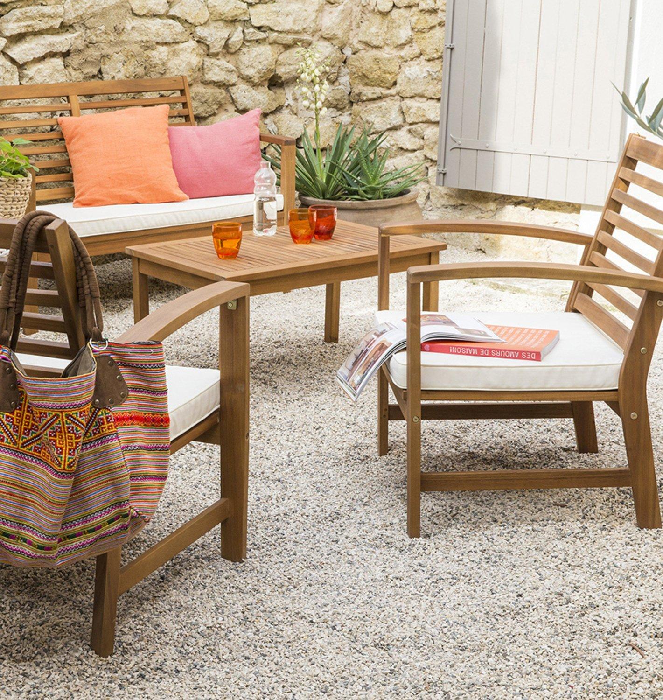 Un salon de jardin complet et cosy | Leroy Merlin