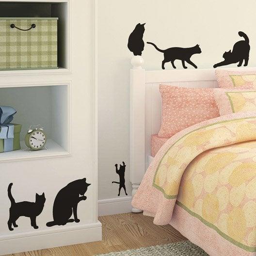 sticker les chats 50 cm x 70 cm | leroy merlin