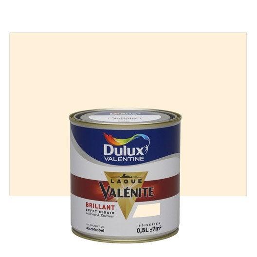 Peinture blanc cass dulux valentine val nite 0 5 l - Peinture couleur blanc casse ...