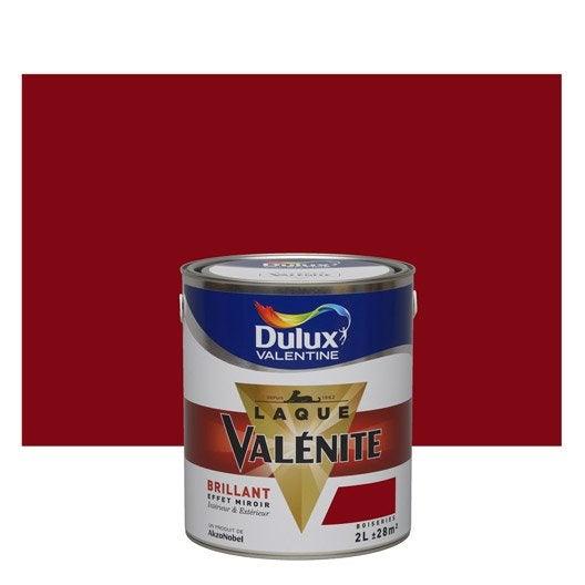 peinture rouge basque brillant dulux valentine val nite 2 l leroy merlin. Black Bedroom Furniture Sets. Home Design Ideas