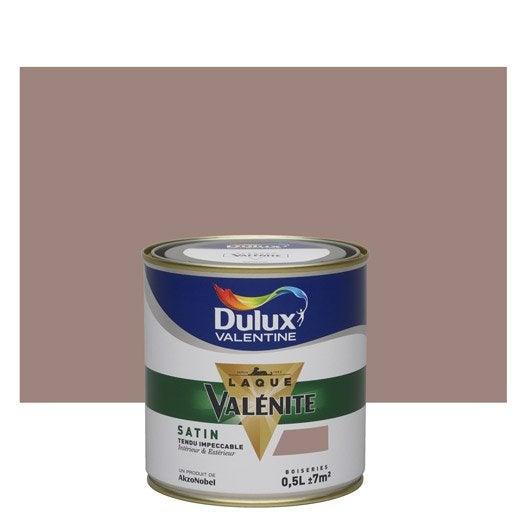 Peinture brun taupe dulux valentine val nite 0 5 l leroy for Peinture taupe claire