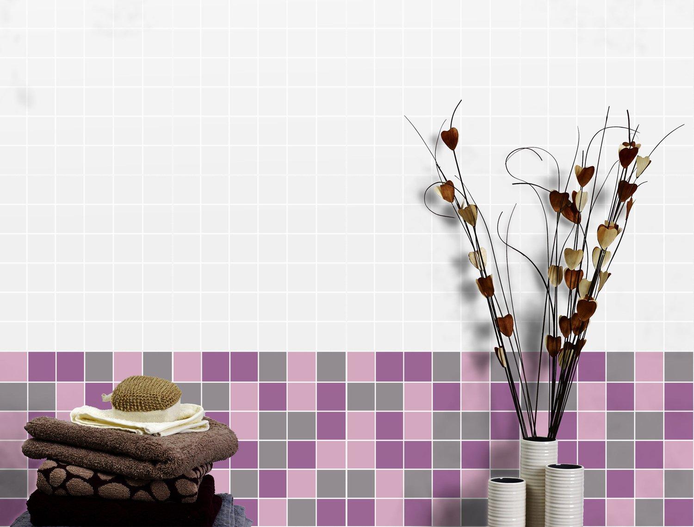 Salle De Bain Fleurie ~ un carrelage mosaique mural violet et tulipe pour une salle de bains
