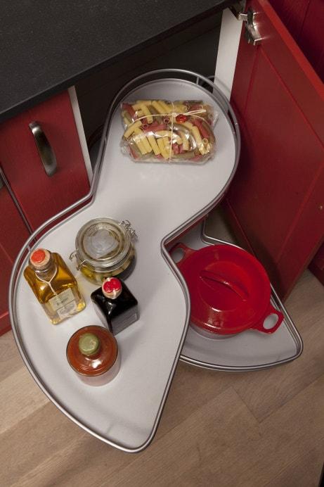 Rangements coulissant pour meubles de cuisine en angle