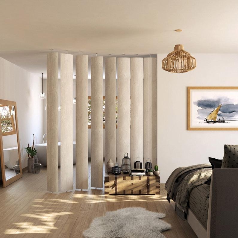 Lame orientable Boomerang MDF revêtu feuille décor, effet bois blanchi ... e6e4d6b5e53