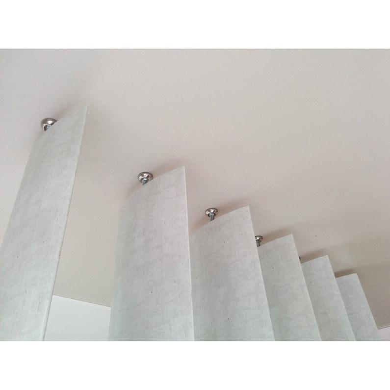 ... Lame orientable Boomerang MDF revêtu feuille décor, effet bois blanchi  ... e6f758a9584