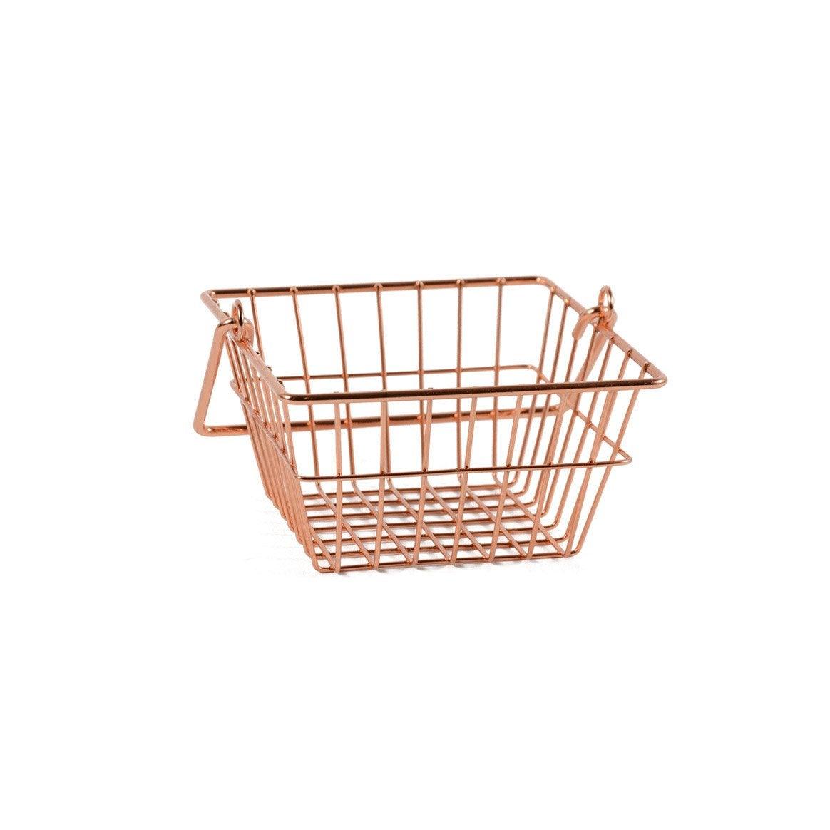 Panier métal Copper, cuivre