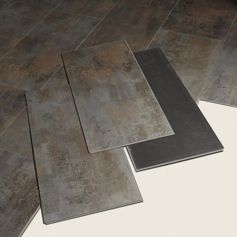 dalle pvc clipsable cuivre metal artens moods leroy merlin. Black Bedroom Furniture Sets. Home Design Ideas