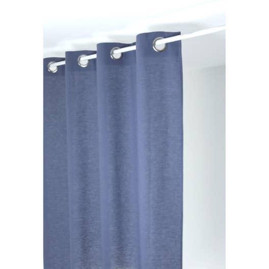 rideau gris bleu