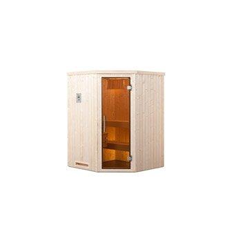 Sauna traditionnel 2 places, modèle Falun angle trend Os WEKA, livraison incluse