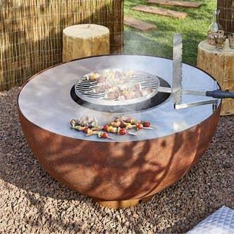 Barbecue plancha brasero cuisine d 39 ext rieur leroy merlin - Table en pierre exterieur ...