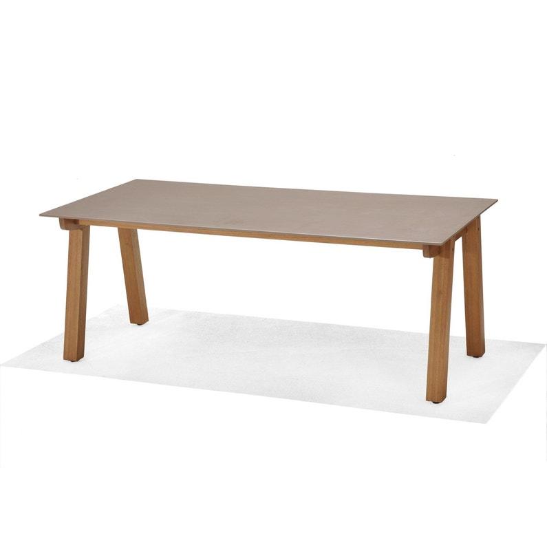 Table de jardin St tropez rectangulaire taupe personnes