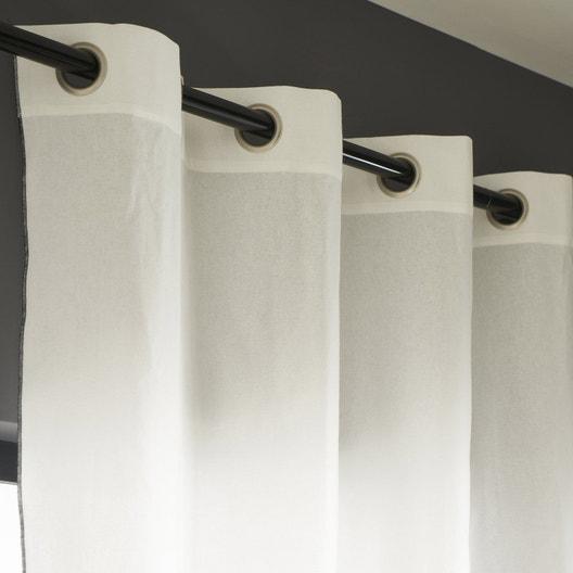 rideau tamisant elis blanc et noir x cm. Black Bedroom Furniture Sets. Home Design Ideas