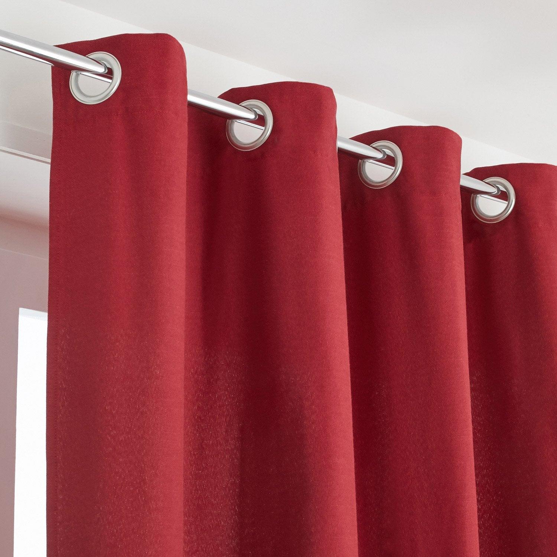 Rideau tamisant, Indigo, rouge, l.135 x H.250 cm