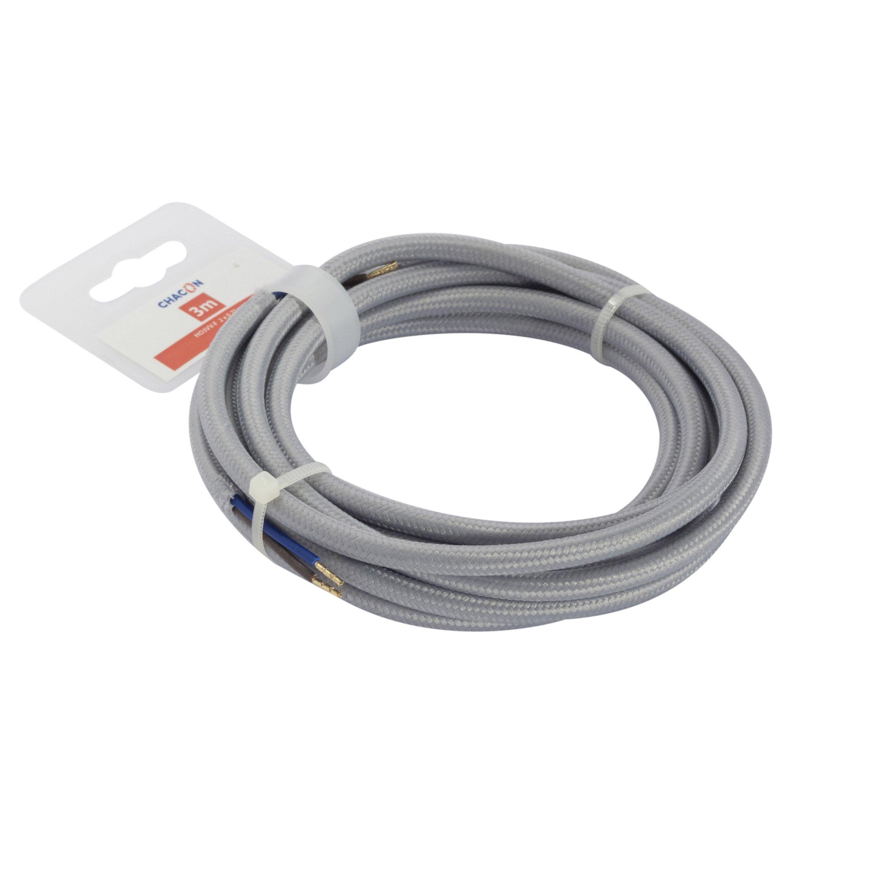 tube PVC lignes H03VV-F C/âble Blanc blanc