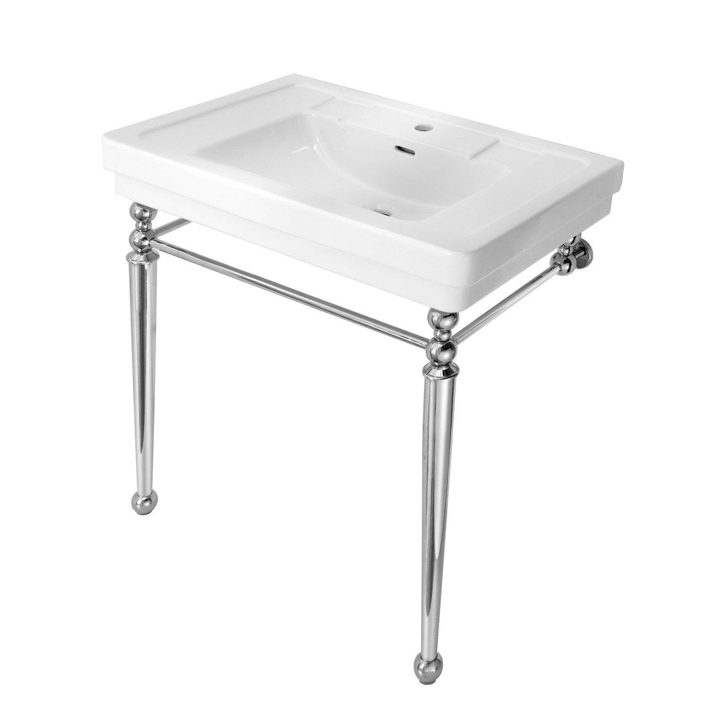 Plan vasque jazz 80 cm leroy merlin for Vasque sur pied salle de bain