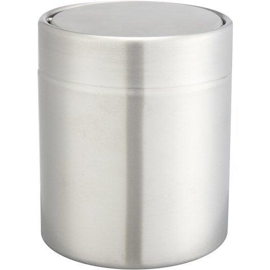 poubelle de salle de bains 1.25 l chromé urban | leroy merlin