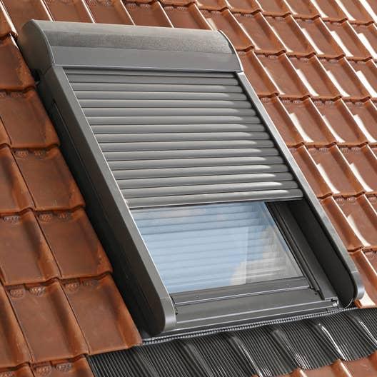 Volet fen tre de toit roulant lectrique velux sml mk04 for Store velux exterieur