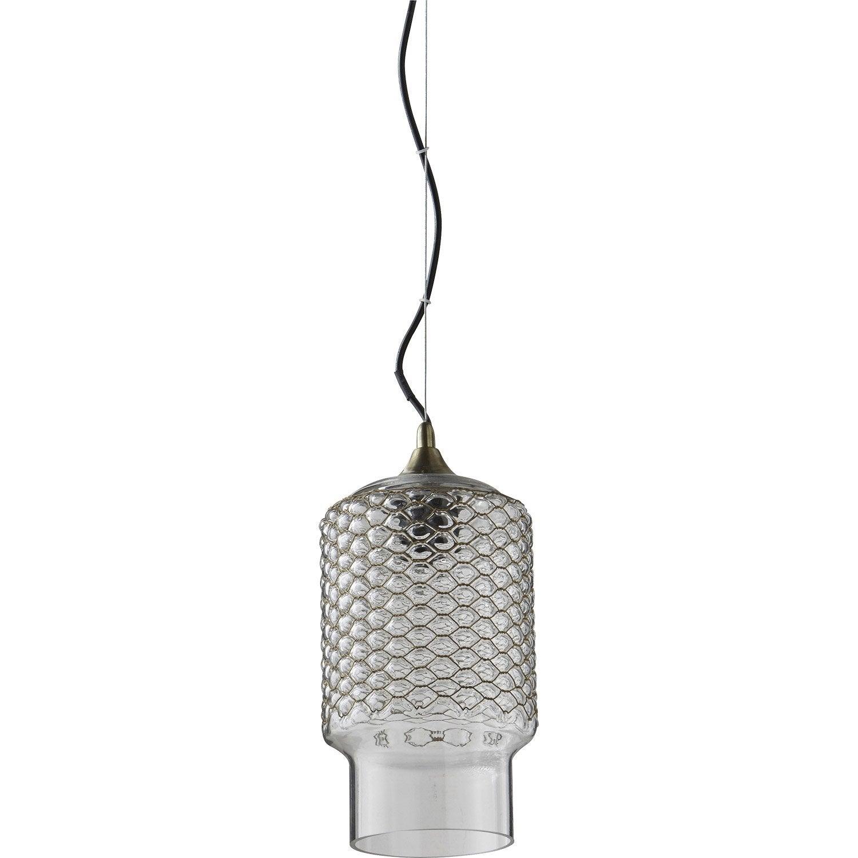 Suspension, design verre incolore / transparent LUSSIOL Bella 1 lumière(s) D.15