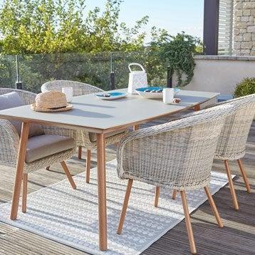 Salon de jardin table et chaise mobilier de jardin - Table de jardin 2 personnes ...