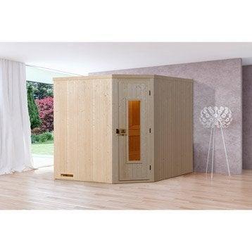 Sauna traditionnel 2 places, modèle Kasala 3 WEKA, livraison incluse