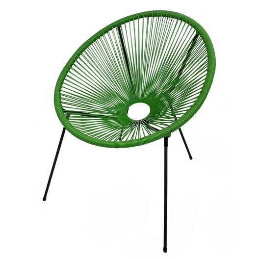 fauteuil en acier acapulco vert leroy merlin. Black Bedroom Furniture Sets. Home Design Ideas