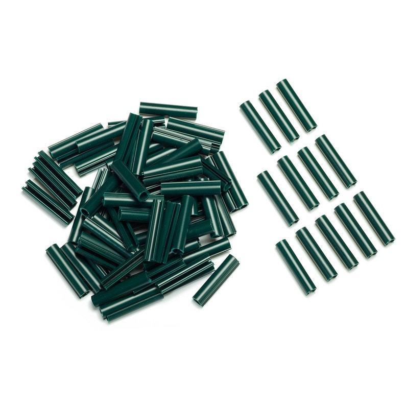 Lot De 100 Clips Pvc à Fixer Lixo Vert H1 Cm