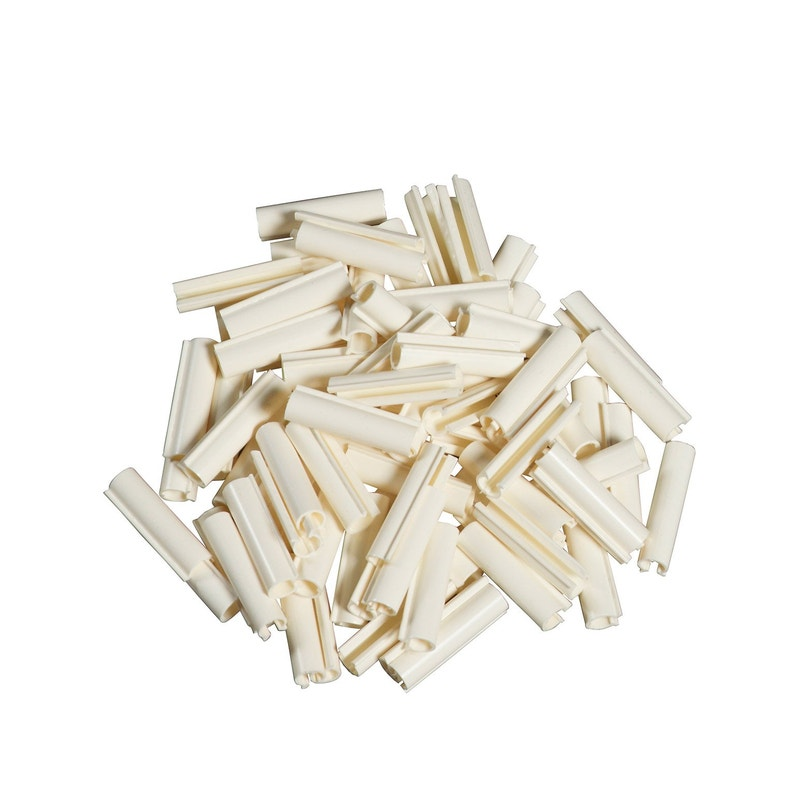 Lot De 100 Clips Pvc à Fixer Lixo Blanc H1 Cm