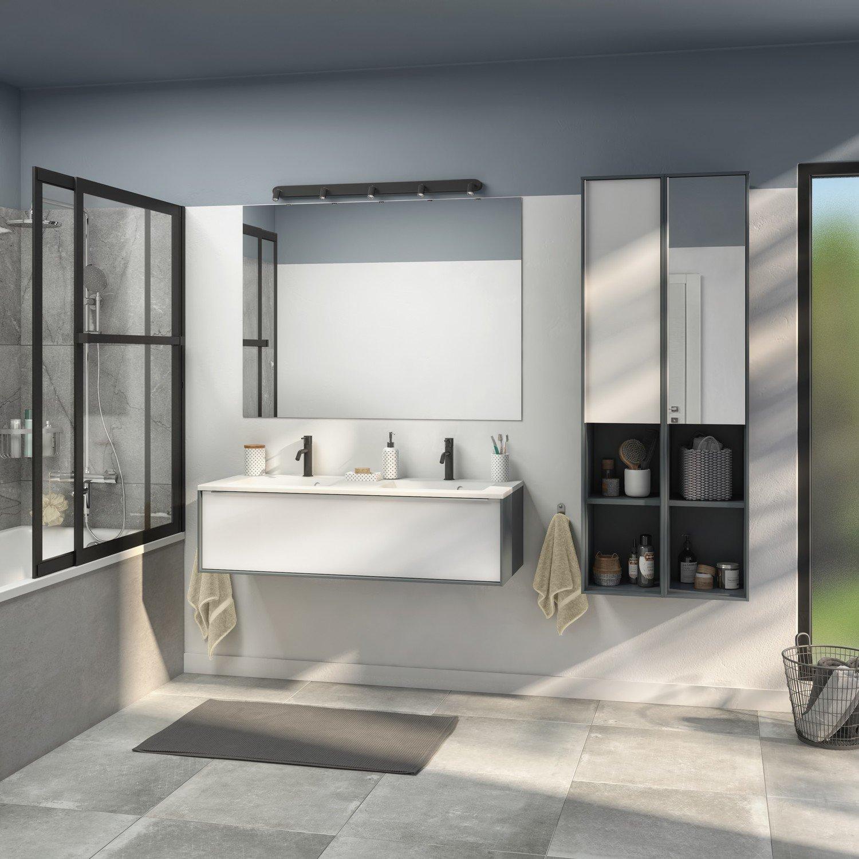 Une salle de bains style industriel  Leroy Merlin