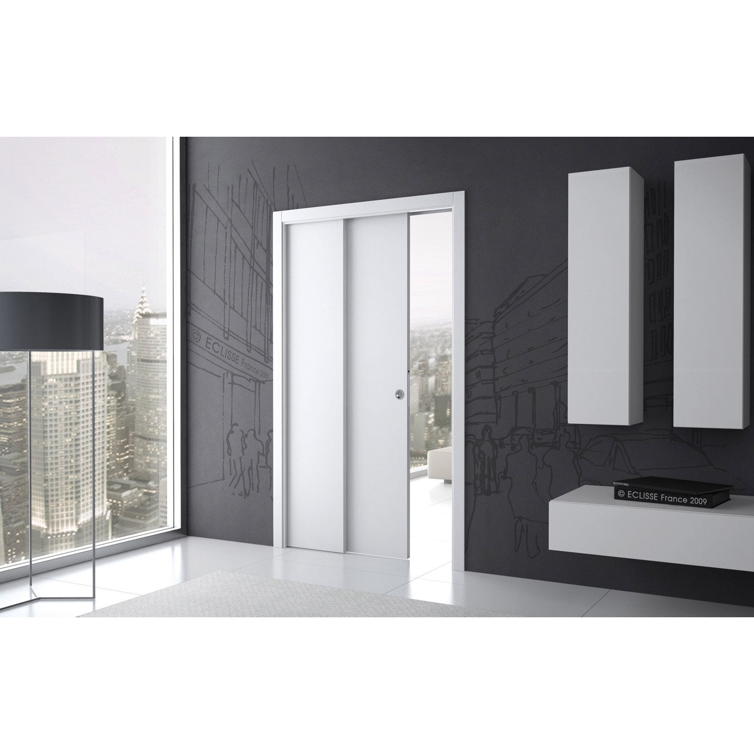syst me galandage t lescopique eclisse pour porte de. Black Bedroom Furniture Sets. Home Design Ideas