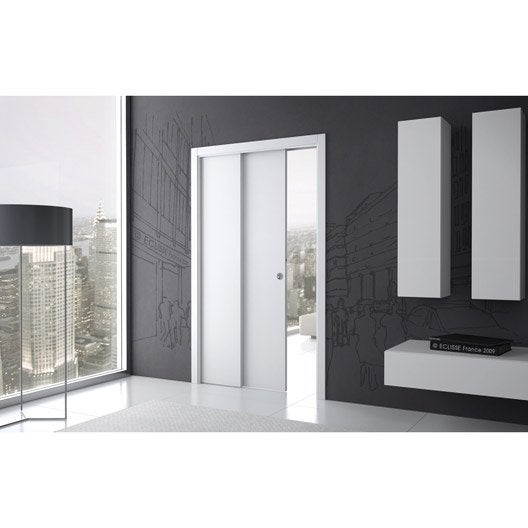 syst me galandage t lescopique eclisse pour porte de largeur 2 x 73 cm leroy merlin. Black Bedroom Furniture Sets. Home Design Ideas