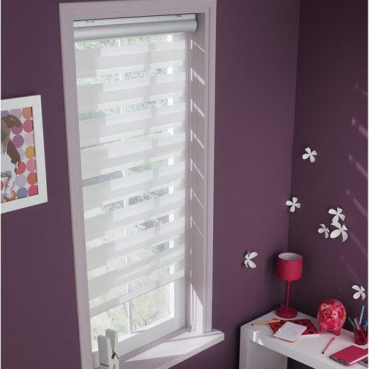 store enrouleur jour nuit coffre alu blanc blanc n 0 57 60 x 160 cm leroy merlin. Black Bedroom Furniture Sets. Home Design Ideas