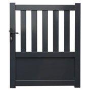 portail battant aluminium cygne gris cm x cm leroy merlin. Black Bedroom Furniture Sets. Home Design Ideas
