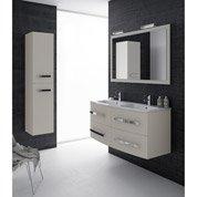 Meuble de salle de bains plus de 120, blanc / beige / nature...