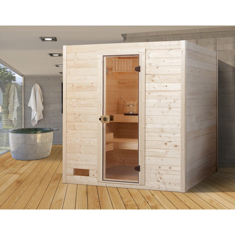 sauna traditionnel 3 places mod le oland 2 weka livraison incluse leroy merlin. Black Bedroom Furniture Sets. Home Design Ideas