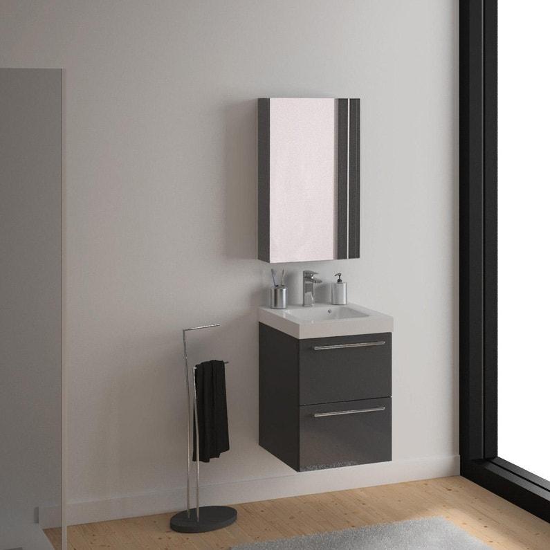 Meuble Simple Vasque L 60 X H 58 X P 46 Cm Gris Fonce Remix Leroy Merlin