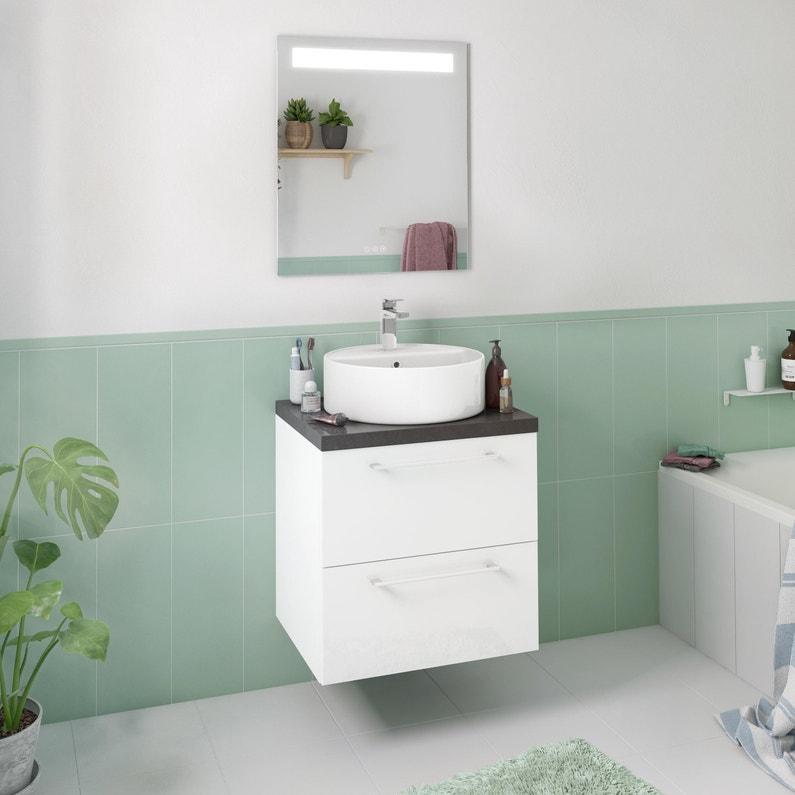 Meuble Simple Vasque L 60 X H 58 X P 48 Cm Blanc Remix Leroy Merlin