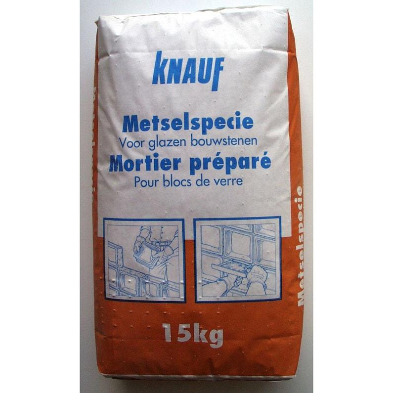 Mortier Brique De Verre Mur Gris Knauf 15 Kg