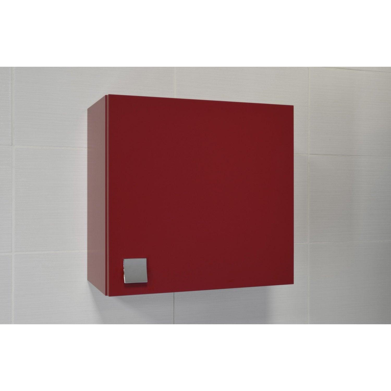 armoire de wc x x cm rouge coin d 39 o leroy merlin. Black Bedroom Furniture Sets. Home Design Ideas