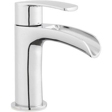 Robinet de lave-mains eau froide cascade chromé Cariba