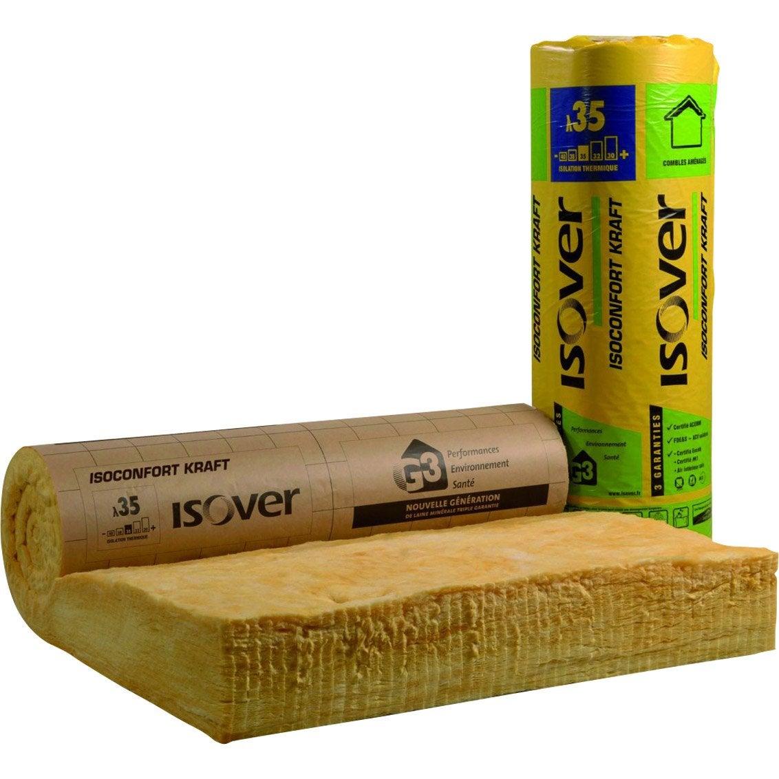 Laine De Verre Kraft 2 6 X 1 2 M Ep 240 Mm Lambda 0 035 R 6 85