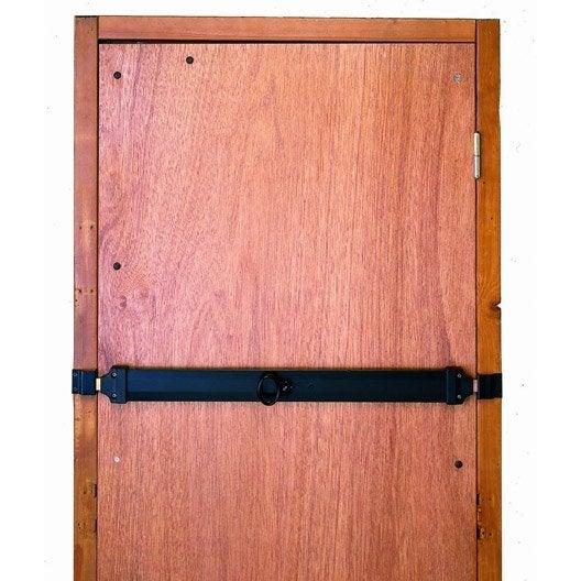 Barre de s curit en acier zingu pour portes de garage l for Porte en acier pour cabanon