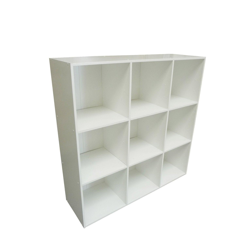 Etagère 9 Cases MULTIKAZ, Blanc H.103.2 X L.103.2 X P.