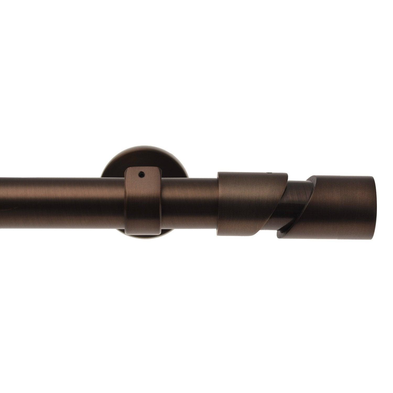 Kit de tringle à rideau Nordik Diam. 25/28 mm moka brossé 160/300 cm ...