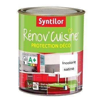 Peinture de rénovation, satiné, SYNTILOR, Rénov'cuisine, incolore 1 L